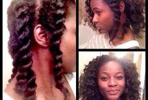 Hair, make-up and nails.