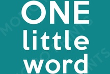 One Little Word Ideas / by FunintheSon