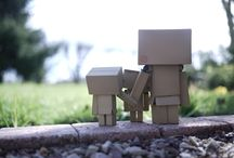 Danbo family and other / Danbo, Wall-e, Yotsuba, Jessy, Woody, Sulley, Bo...