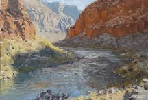The Grand Canyon on Canvas / Grand Canyon on Canvas is an exhibition featuring 11 artists on their way down the Colorado River through the Grand Canyon. Participating Artists:  Amery Bohling, Doug Braithwaite, Susie Hyer, Cody Delong, Heather Burton, Dave Santillanes, Hai Ou Hou, Dennis Farris, Rosie Sandifer, Bill Cramer, and Joshua Been