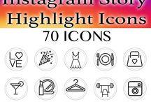 Icons socials media