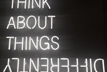 neon quotes sign