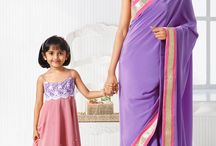 Like Mother Like Daughter. / Share your style with your little one with our simple yet elegant mother daughter collections.  / by Cbazaar - Delivering Happiness