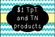 $1 TpT or TN Products / All the best products from TpT and TN that are priced $1.  Please no sale items where the prices fluctuate and pin up to 3 products per day.  If you would like to join this board, make sure you follow me and send me a message on Pinterest!  Happy Pinning!