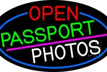 Passport Photo Neon Signs