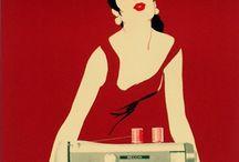 """Pubblicità Storiche Necchi / La Necchi è stata la prima macchina per cucire completamente italiana, da subito la più imitata e ricercata in tutto il mondo.  """"La mia è una Necchi"""" campeggiava sulle prime locandine anni '50 e ancora oggi non hanno minimamente perso il loro fascino."""