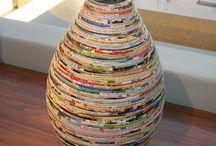 reciclando jornais e revistas