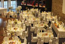 Judith & Dennis / Hochzeitsdekoration in Gelb, Apricot und Orange