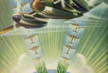"""""""Contact"""" magazine / Illustrations from the official magazine of the Royal New Zealand Air Force (RNZAF) 1941-1955."""