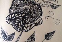 Zentangle. / Zentangle, patterns, drawing.