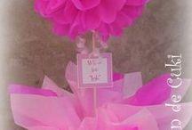 vasos com decoração de papel