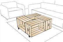 Deco caisses en bois