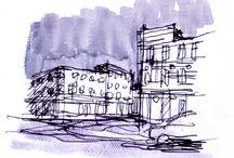 dessins de villes