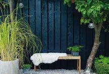 Scandinavische tuin / Sfeer, kleuren, materialen: een stijlbord rondom de Scandinavische tuin die we maakten in Oud-Beijerland. Laat je inspireren!