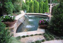 Waterfall/swimming pool / Landscape