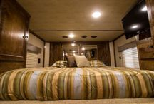 Trailer of the week 69719 / This feels like home! Outlaw Conversions. Outlaw Conversions custom living quarters, horse trailer premier interiors. outlawconversions.com #outlawconversions