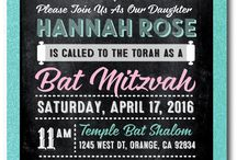 Bat Mitzvah Invitations for Girls / A wonderful assortment of exquisitely printed Bar Mitzvah invitations that are fully customizable with your party info! Professionally printed on metallic card stock and artfully hand-mounted onto gorgeous paper, these Bar Mitzvah invites are truly stunning in person.
