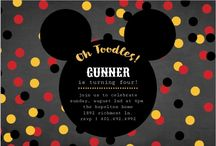 Mickey Mouse Birthday Party Ideas / Use these Mickey Mouse birthday party ideas, ranging from mickey mouse birthday invitations to decorations, games, and more, to plan an unforgettable celebration for child's special day. / by PurpleTrail Invitations & Cards