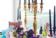 Elegantly inked - styled shoot / Jewel coloured shoot at WAterkloof Wine estate in Somerset, with the Talented Grethe Rousseaux