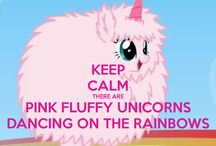 Unicorns are awesome / I love.... PINK FLUFFY UNICORNS DANCING ON RAINBOWS