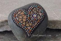 Mosaic on a rock