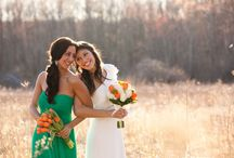"""Wedding - Orange & Green / In honor of """"Tangerine Tango"""": 2012's Pantone Color of the Year, Down The Aisle teamed up with Candace Jeffrey Photography for a lovely photo shoot to incorporate these colors."""