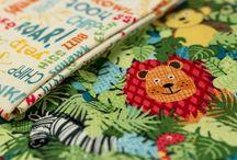 Jungle / Fabric collection designed by Makower UK.