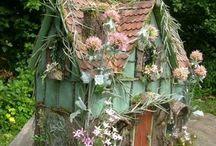 birdhouses+fairy houses