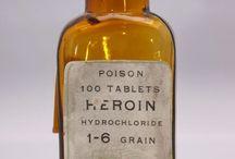 Gamle medisinflasker