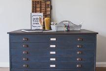 map storage cabinet diy