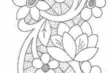 rajzolt minták