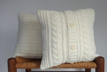 "Sweater Pillows / Some of my ""Sweater Pillow"" covers made from up cycled sweaters."
