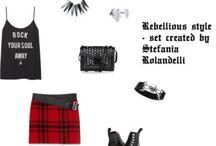 """STILE RIBELLE / """"Non mi interessa cosa pensi di me: indosso qualsiasi cosa mi piaccia"""". Ribelle, indipendente, unica, afferma di poter essere chiunque lei voglia essere. Le va bene qualsiasi stile, l'importante è che sia il suo stile, senza regole, guidato esclusivamente dal suo senso estetico. Abbina look che nessuno oserebbe mai mettere insieme: gotico + rock chic + skinhead + punk. Ha un equilibrio precario: la sua autostima è al settimo cielo oppure sfiora la più profonda depressione."""
