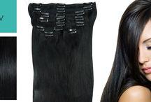 40 cm-es csatos póthajak / Csatos póthajak, hajhosszabbítás