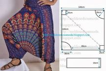 Boho/Harem Pants & Patterns / A collection of fabulous boho pants for adults and children.