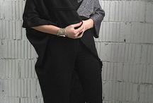 DP_031 Кардиган ассиметричный черный с серебристой вставкой