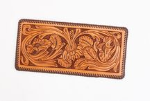 Leather Tooling / Images of leather tooling, many featuring work by Denny Lowe, SLC's resident master craftsman.