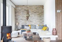 Perete piatra living room