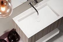 BASIC / Our BASIC made to measure Solid surface basin makes a strong basis for any design. Its basic rectangular shape makes it ideal for design purposes. With a worktop width of minimal 60cm and maximal 260cm anything is possible. www.bathsbyclay.com/basic.html
