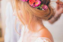 flores y peinado boda