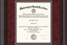 University of South Carolina - USC - Diploma Frames & Graduation Gifts / Official USC Diploma frames. Exquisitely crafted to exacting specifications for the USC diploma. Custom framed using hardwood mouldings and all archival materials, including UV glass to prevent fading from sunlight AND indoor incandescent lighting! Each frame exceeds Library of Congress standards for document preservation and includes a 100% lifetime guarantee, ensuring that a hard-earned achievement will be honored and protected for generations. Makes a thoughtful and unique graduation gift!