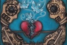 Skull Love  / Skulls, Dia De Los Muertos and the like