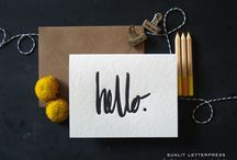 Letterpress Greeting Cards | Sunlit Letterpress / Hand-lettered cards from Sunlit Letterpress.