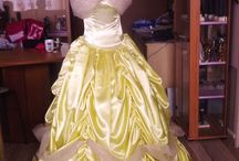 Robes de bal et accessoires / Robe de bal créée par moi en satin !!!