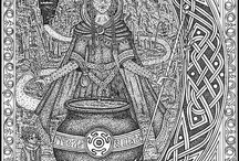 Gods/Goddesses/Deities / Primarily Celtic, Welsh, or Irish deities, with a heavy focus on Cerridwen. For years, I wanted to name my first daughter Cerridwen.