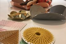 Woollane / From Santomaro Design, steel and wool decoration, yarn tiles, totally customizable. Designed and made in Italy