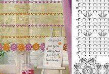 Crochet window and door curtain
