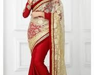 Gorgeous Ladies in Saree / Saree is an Indian traditional wear and Indian people love to wear saree in every festival and weddings. http://on.fb.me/1LLLLqV