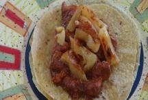 food: burritos, tacos, empanadas