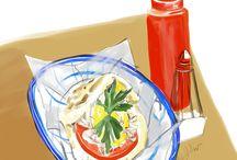 Food illustrations by Jessie Kanelos Weiner